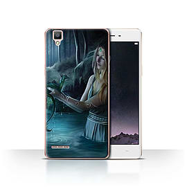 Official Elena Dudina Case/Cover for Oppo F1 / Water/Baby Design / Dragon Reptile Collection Mobile phones