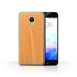 STUFF4 Case/Cover for Meizu M3 / Pine Design / Wood Grain Effect/Pattern Collection Mobile phones