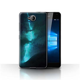 Official Chris Cold Case/Cover for Microsoft Lumia 650/Electric Storm Design/Alien World Cosmos Mobile phones