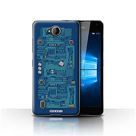 STUFF4 Case/Cover for Microsoft Lumia 650 / Blue Design / Circuit Board Collection Mobile phones