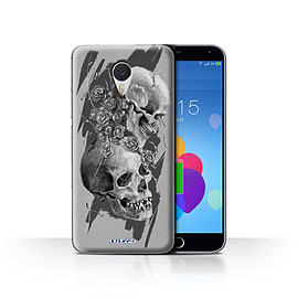 STUFF4 Case/Cover for Meizu M3 Note / Thorns Design / Skull Art Sketch Collection Mobile phones