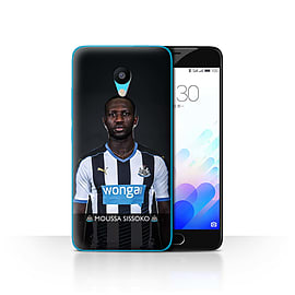 Official Newcastle United FC Case/Cover for Meizu M3/Sissoko Design/NUFC Football Player 15/16 Mobile phones