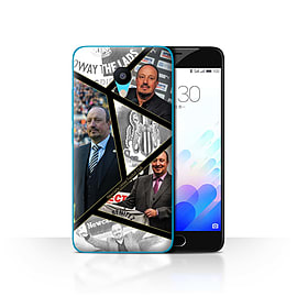 Official Newcastle United FC Case/Cover for Meizu M3 / Montage Design / NUFC Rafa Ben?tez Collection Mobile phones