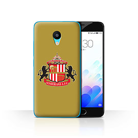 Official Sunderland AFC Case/Cover for Meizu M3 / Gold Design / SAFC Football Club Crest Collection Mobile phones