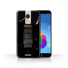 STUFF4 Case/Cover for Meizu M3 Note / Black Electirc Design / Guitar Collection Mobile phones