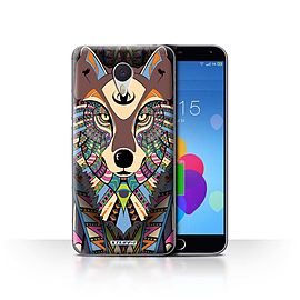 STUFF4 Case/Cover for Meizu M3 Note / Wolf-Colour Design / Aztec Animal Design Collection Mobile phones