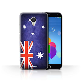 STUFF4 Case/Cover for Meizu M3 Note / Australia/Australian Design / Flags Collection Mobile phones