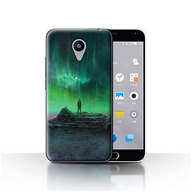 Official Chris Cold Case/Cover for Meizu M2 / Aurora Design / Alien World Cosmos Collection Mobile phones