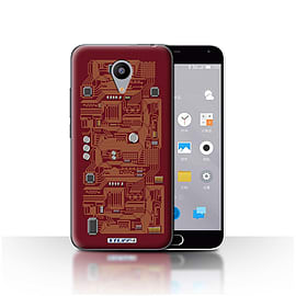 STUFF4 Case/Cover for Meizu M2 / Red Design / Circuit Board Collection Mobile phones