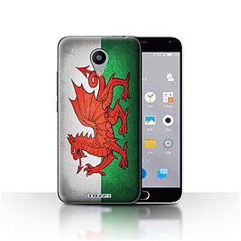 STUFF4 Case/Cover for Meizu M2 / Wales/Welsh Design / Flags Collection Mobile phones
