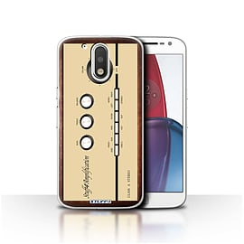 STUFF4 Case/Cover for Motorola Moto G4 Plus 2016 / Amp/Amplifier Design / Retro Tech Collection Mobile phones
