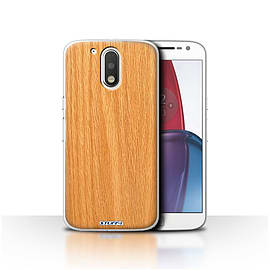 STUFF4 Case/Cover for Motorola Moto G4 Plus 2016/Pine Design/Wood Grain Effect/Pattern Mobile phones