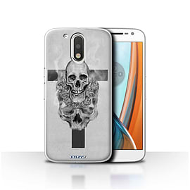 STUFF4 Case/Cover for Motorola Moto G4 2016 / Cross/Crucifix Design / Skull Art Sketch Collection Mobile phones