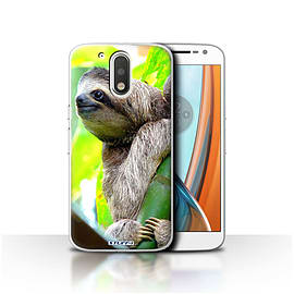 STUFF4 Case/Cover for Motorola Moto G4 2016 / Sloth Design / Wildlife Animals Collection Mobile phones