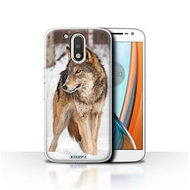 STUFF4 Case/Cover for Motorola Moto G4 2016 / Wolf Design / Wildlife Animals Collection Mobile phones