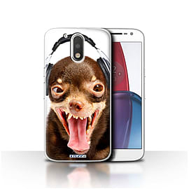 STUFF4 Case/Cover for Motorola Moto G4 Plus 2016 / Ridiculous Dog Design / Funny Animals Collection Mobile phones