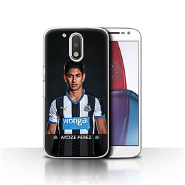 Official NUFC Case/Cover for Motorola Moto G4 Plus 2016/Ayoze Design/NUFC Football Player 15/16 Mobile phones