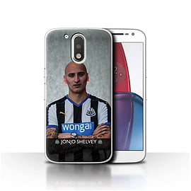 Official NUFC Case/Cover for Motorola Moto G4 Plus 2016/Shelvey Design/NUFC Football Player 15/16 Mobile phones
