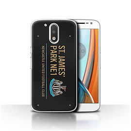 Newcastle United FC Case/Cover for Motorola Moto G4 2016/Black/Gold Design/St James Park Sign Mobile phones