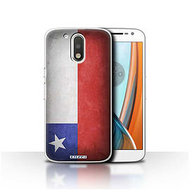 STUFF4 Case/Cover for Motorola Moto G4 2016 / Chile/Chiliean Design / Flags Collection Mobile phones