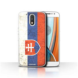 STUFF4 Case/Cover for Motorola Moto G4 2016 / Slovakia/Slovakian Design / Flags Collection Mobile phones