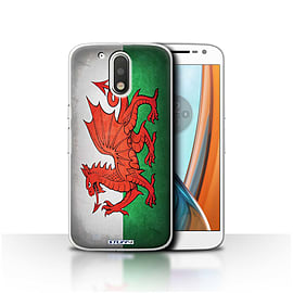 STUFF4 Case/Cover for Motorola Moto G4 2016 / Wales/Welsh Design / Flags Collection Mobile phones