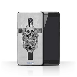 STUFF4 Case/Cover for Lenovo ZUK Z2 Pro / Cross/Crucifix Design / Skull Art Sketch Collection Mobile phones