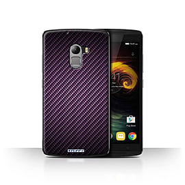 STUFF4 Case/Cover for Lenovo Vibe K4 Note / Purple Design / Carbon Fibre Effect/Pattern Collection Mobile phones