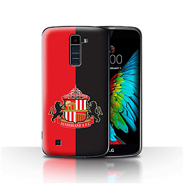 Sunderland AFC Case/Cover for LG K8/K350N/Phoenix 2/Red/Black Design/SAFC Football Club Crest Mobile phones