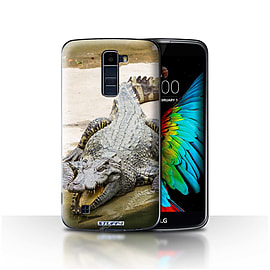 STUFF4 Case/Cover for LG K8/K350N/Phoenix 2 / Crocodile Design / Wildlife Animals Collection Mobile phones