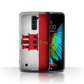STUFF4 Case/Cover for LG K8/K350N/Phoenix 2 / Gibraltar/Gibraltarian Design / Flags Collection Mobile phones