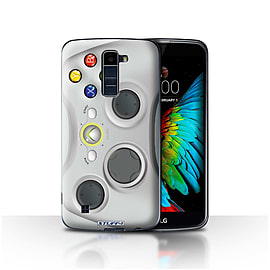 STUFF4 Case/Cover for LG K8/K350N/Phoenix 2 / White Xbox 360 Design / Games Console Collection Mobile phones