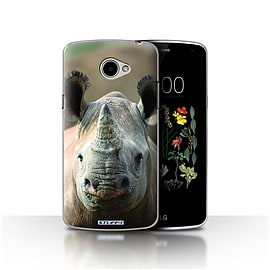 STUFF4 Case/Cover for LG K5/X220/Q6 / Rhino Design / Wildlife Animals Collection Mobile phones