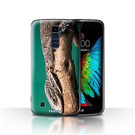 STUFF4 Case/Cover for LG K10 /K420/K430 / Lizard Design / Wildlife Animals Collection Mobile phones