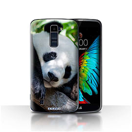 STUFF4 Case/Cover for LG K10 /K420/K430 / Panda Bear Design / Wildlife Animals Collection Mobile phones