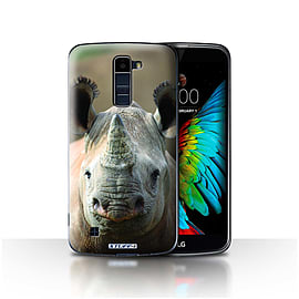 STUFF4 Case/Cover for LG K10 /K420/K430 / Rhino Design / Wildlife Animals Collection Mobile phones