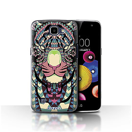 STUFF4 Case/Cover for LG K4/K120/K121/K130 / Tiger-Colour Design / Aztec Animal Design Collection Mobile phones