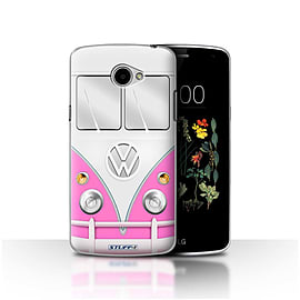 STUFF4 Case/Cover for LG K5/X220/Q6 / Pink Design / VW Camper Van Collection Mobile phones