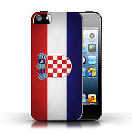 STUFF4 Case/Cover for Apple iPhone SE / Croatia/Croatian Design / Flags Collection Mobile phones
