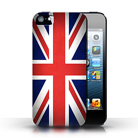 STUFF4 Case/Cover for Apple iPhone SE / Great Britain/British Design / Flags Collection Mobile phones