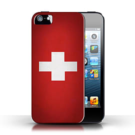STUFF4 Case/Cover for Apple iPhone SE / Switzerland/Swiss Design / Flags Collection Mobile phones