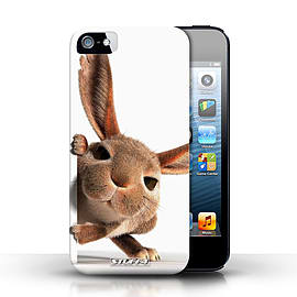 STUFF4 Case/Cover for Apple iPhone SE / Peeking Bunny Design / Funny Animals Collection Mobile phones