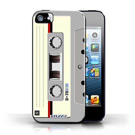 STUFF4 Case/Cover for Apple iPhone SE / Compact Cassette Tape Design / Retro Tech Collection Mobile phones