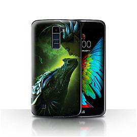 Official Elena Dudina Case/Cover for LG K10 /K420/K430/Green Scales Design/Dragon Reptile Mobile phones