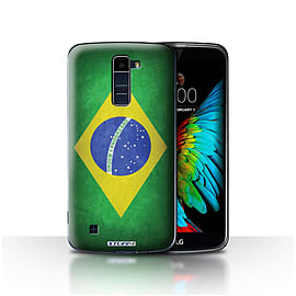 STUFF4 Case/Cover for LG K10 /K420/K430 / Brazil/Brazilian Design / Flags Collection Mobile phones