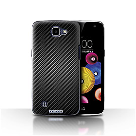 STUFF4 Case/Cover for LG K4/K120/K121/K130 / Grey Design / Carbon Fibre Effect/Pattern Collection Mobile phones