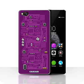 STUFF4 Case/Cover for ZTE Nubia Z9 / Purple Design / Circuit Board Collection Mobile phones