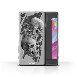 STUFF4 Case/Cover for Sony Xperia X Performance / Thorns Design / Skull Art Sketch Collection Mobile phones