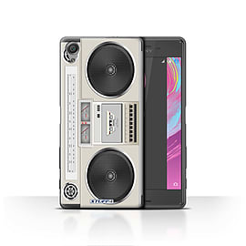 STUFF4 Case/Cover for Sony Xperia X / Boombox Design / Retro Tech Collection Mobile phones