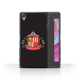 Official Sunderland AFC Case/Cover for Sony Xperia X/Black Design/SAFC Football Club Crest Mobile phones